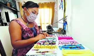 Máscaras personalizadas caem no gosto da população
